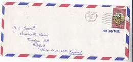 1982 Air Mail BARBADOS COVER Stamps GEORGE WASHINGTON - Barbades (1966-...)