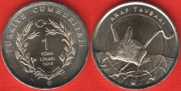 "Turkey 1 Lira 2016 ""Jerboa"" BiMetallic UNC - Turquie"