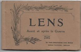 CP 229 Carnet De 24 Cartes Postales De Lens Avant Et Après La Grande Guerre - Lens