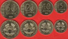 Tajikistan Set Of 4 Coins: 5 - 50 Diram 2015 UNC - Tadzjikistan