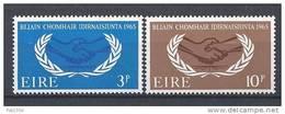 Irlande 1965 N°173/174 Neufs ** 20 Ans De L´ONU - 1949-... República Irlandése
