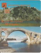 ALBANIA(chip) - Bridge, Albtelecom Telecard 50 Units(orange Writing), 02/99, Used