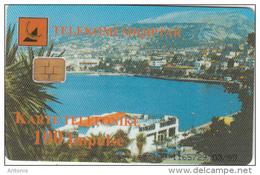 ALBANIA - City View, Albtelecom Telecard 100 Units(black Text), Tirage %90000, 03/99, Used