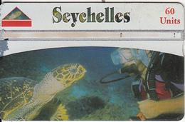 SEYCHELLES ISL. - Marine Turtle, CN : 910A, Tirage 10000, Used - Tartarughe