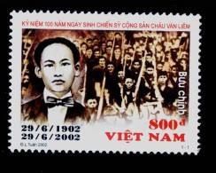 Vietnam Viet Nam MNH Perf Withdrawn Stamp 2002 : Birth Centenary Of Chau Van Liem (Ms888) - Vietnam