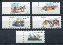 MALTA 2002 Sc # 1097 - 1101 Mi # 1248 - 1252 CHRISTMAS  FULL SET MNH - Malta