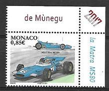 Monaco 2017 -  Yv N° 3072 ** - LES VOITURES DE COURSE MYTHIQUES : MATRA MS80 (Mi N° 3329) - Unused Stamps