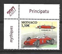 Monaco 2017 -  Yv N° 3073 ** - LES VOITURES DE COURSE MYTHIQUES : LA FERRARI 156 (Mi N° 3330) - Unused Stamps