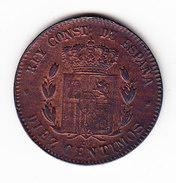 ESPAGNE  KM 675  10cts AU 1879  (M41) - Monnaies Provinciales
