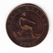 COINS ESPAGNE KM 662 1870 5ct AU. (DP27) - Monnaies Provinciales