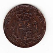 COINS ESPAGNE KM 675 1878 10ct AU. (DP28) - Monnaies Provinciales