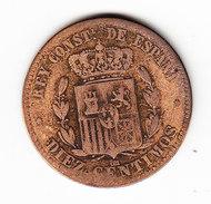 ESPAGNE KM 675 10cts 1878.   (MP39) - Monnaies Provinciales