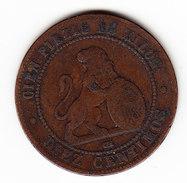 ESPAGNE KM 663 5cts 1870. (3P20) - Monnaies Provinciales