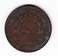 ESPAGNE KM 675 1877 10C. (3P23) - Monnaies Provinciales