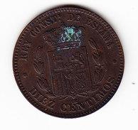 ESPAGNE KM 675 1877 10C. (3P24) - Monnaies Provinciales