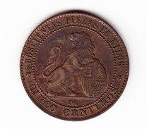 ESPAGNE       KM  662, 5c, AU, 1870 .      ( 44 ) - Monnaies Provinciales