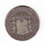 ESPAGNE       KM  702, 1p, SILVER     1893.     ( 45 ) - Monnaies Provinciales