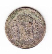 ESPAGNE       KM  686, 1p,  SILVER    1882.       ( 46 ) - Monnaies Provinciales