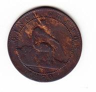 ESPAGNE  KM 662  5cts AU 1870  (M43) - Monnaies Provinciales