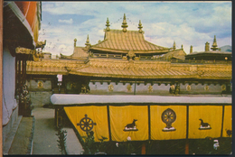 °°° 1646 - CINA CHINA - LHASA - ROOFS  OF JOKHAN MONASTERY - 1981 With Stamps °°° - Chine