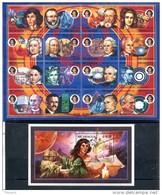 Nicaragua 1994 Space Astronomes Copernicus Galileo Galilei Mathematics Gauss Phisics Newton MNH**XVF