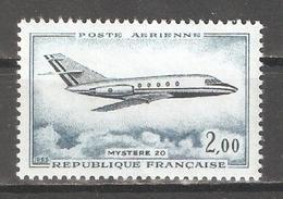 France 1965,Air Mail,Jet Plane Mystere 20,Sc C41,VF MNH**OG - Airmail