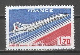 France 1976, Air Mail, Concorde, Scott # C48,VF-XF MNH**OG (FR-1) - Airmail