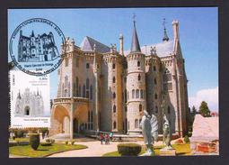 SPAIN 2012 MAXIMUM CARD. EPISCOPAL PALACE OF ASTORGA LEON. CHURCH CATHEDRAL - Kirchen U. Kathedralen