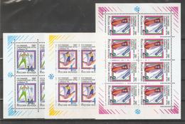 Russia 1992,Winter Olympics,Albertville,3 Mini Sheets,Sc 6056a-58a,VF MNH** - Winter 1992: Albertville