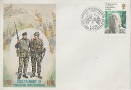 Enveloppe  FDC  1er   Jour    GRANDE  BRETAGNE    Bicentenaire  Des   U.S.A    1976 - Indépendance USA