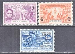 FRENCH  INDOCHINE  140-2   *  PARIS  EXPO.  1931 - Indochina (1889-1945)