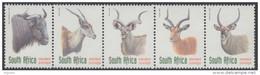 D10623 South Africa 1998 ANTELOPE Buffalo Eland Etc MNH Strip - Afrique Du Sud Afrika RSA Sudafrika - Unclassified