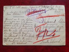 Censure WWI Dyrost Post Wustermark Gefangenen Lager Wittenbery Cpa Lyon