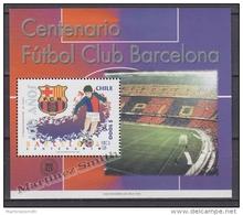 Chile - Chili 1999 Miniature Sheet Yvert BF 58, Centenary Of Football Club Barcelona- MNH - Chile