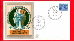 ITALIA - 1977 - FDC - Filagrano - Recapito Autorizzato 110 - Annullo Di Roma - 6. 1946-.. Republic