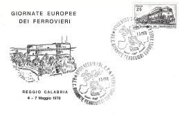 [MD0702] CPM - REGGIO CALABRIA - GIORNATE DEI FERROVIERI - NUMERATA 00135 - CON ANNULLO 7.5.1978 - NV - Reggio Calabria