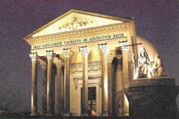 [MD0708] CPM - TORINO - GRAN MADRE OSSARIO DEI CADUTI DELLA PRIMA GUERRA MONDIALE - CON ANNULLO 8.11.2008 - NV - Churches