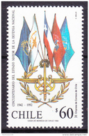 Chile - Chili 1992 Yvert 1115, 150th Anniversary  Of The Major State Of National Defense- MNH - Chile