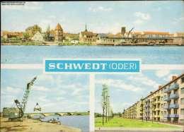 Schwedt (Oder) Schwedt, Stadtbrücke , Leninallee Mehrbildkarte - Sin Clasificación