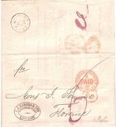 LOMBARDO STREET B PAID 24.FE.73 INTERNO FRANCOBOLLO ONE PENNY - Covers & Documents