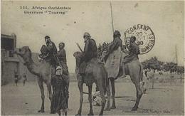 """254- AFRIQUE OCCIDENTALE - Guerriers """" Touareg """"  - Ed. Fortier - Postcards"""