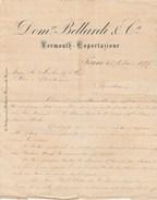 Lettre 29/5/1897 DOMco BELLARDI & Ca Vermouth TORINO Italie - Italie