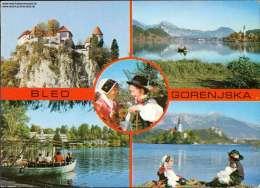 Bled Gorenjska Mehrbildkarte - Jugoslawien