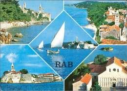 Rab Mehrbildkarte - Jugoslawien