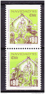 Chile - Chili 1995 Yvert 1290- 91, Christmas, Noël - MNH - Chili