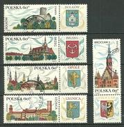 POLAND Oblitéréé 1851-1855 Monuments Historiques Bolkow Brzeg Legnica Opole Wroclaw - 1944-.... Republik