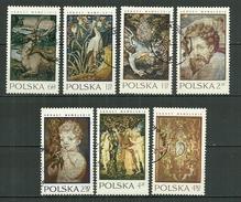 POLAND Oblitéré 1889-1895 Tapisseries Du Chateau Wawel Cracovie Cigogne Panthère Dragon Le Déluge L´enfant à L´oiseau - 1944-.... Republik