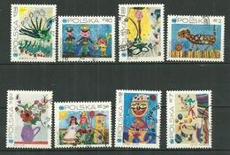 POLAND Oblitéré 1926-1933 Anniversaire De La Fondation De L´unicef Dessins D´enfants La Paon Chat Balle Fleur Fleurs - Usati