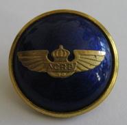 Un Bouton D'uniforme émaillé, ACRB, Aviation, Sporrong & Co., Sweden - 21mm - 4 Scans - Knopen