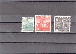AUSTRIA OSTERREICH 1934 MI 585 586 587  STAMPS - 1918-1945 1ère République